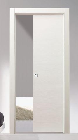 Porte massello da 195 00 porta scorrevole ambra legno massello - Porta scorrevole bianca ...