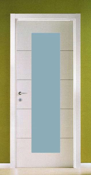 Porte laminato da 75 90 porta battente laminato nebulosa con vetro e inserti in alluminio - Porte interne alluminio e vetro ...