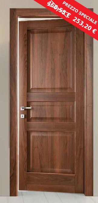 porte in fine serie : Porta Decorativa Legno Massello Fiordaliso