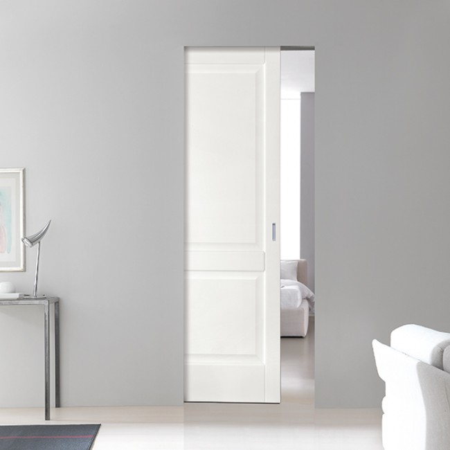 Porte massello da 195 00 porta scorrevole rodi legno for Porta interna bianca con vetro